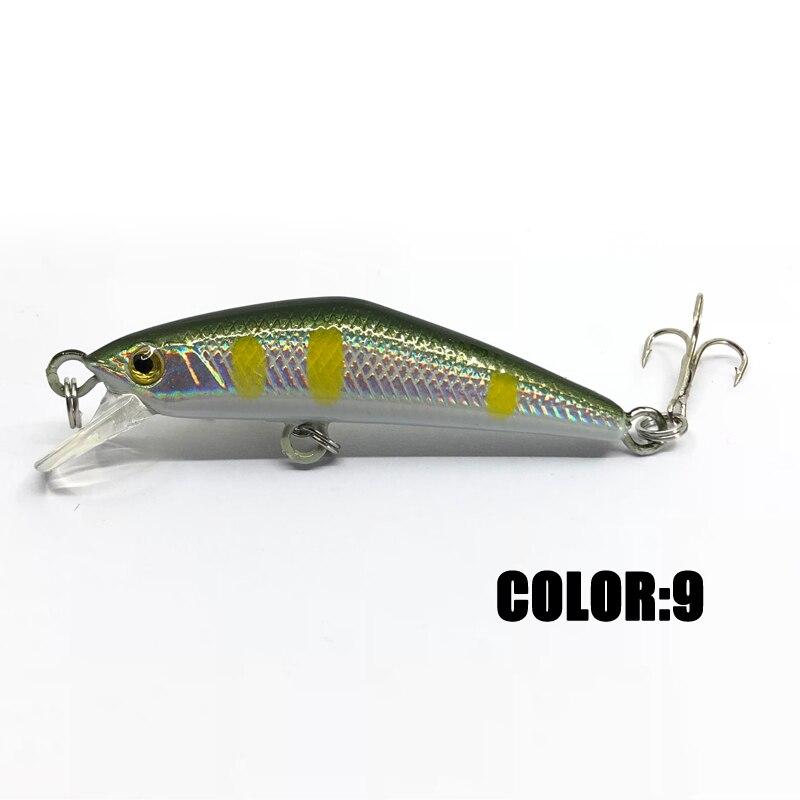 Image 4 - 1Pcs 4.5cm 2.85g Fishing Lures Laser Minnow Fishing Bait Aritificial Hard Bait Crankbait Wobbler Plastic Fish-in Fishing Lures from Sports & Entertainment