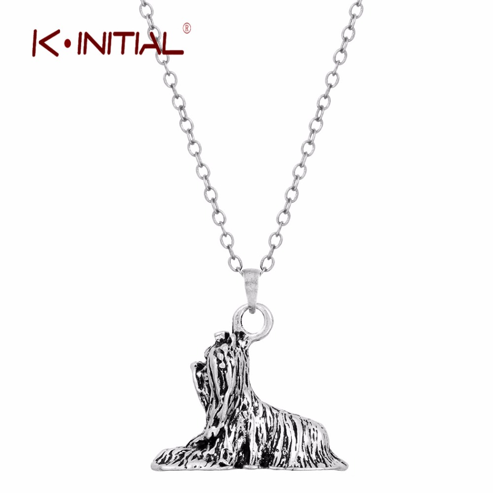 Kinitial 30pcs 3D Realistic Retriever Animal Dog Breed Charm Necklace Pendants Women Animal Dogs Jewelry Choker Necklaces