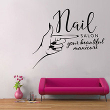 Beauty Salon Business Poster Mural Wall Sticker Hand Spa Design Room Decoration Vinyl Art Removable Decals Ornament W302