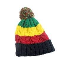 Bob Marley Jamaica Rasta Slouch Beanie Hat Cap Beret Caldo Inverno Reggae  Multi-colored Della Banda Hip Hop Larghi a9fb34209fb3