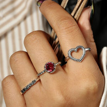 34 Style Red Temptation Vintage Knuckle Rings for Women Boho Geometric Flower Crystal Ring Set Bohemian Finger Jewelry(China)