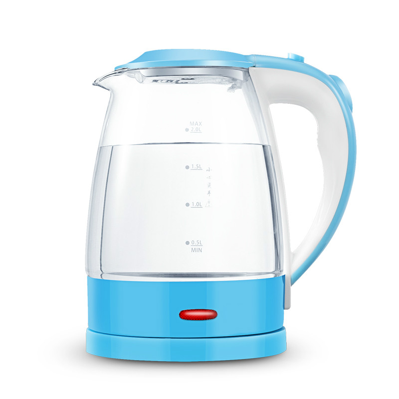 Electric kettle Glass stainless steel household automatic power failure 2L large capacity Safety Auto-Off FunctionElectric kettle Glass stainless steel household automatic power failure 2L large capacity Safety Auto-Off Function