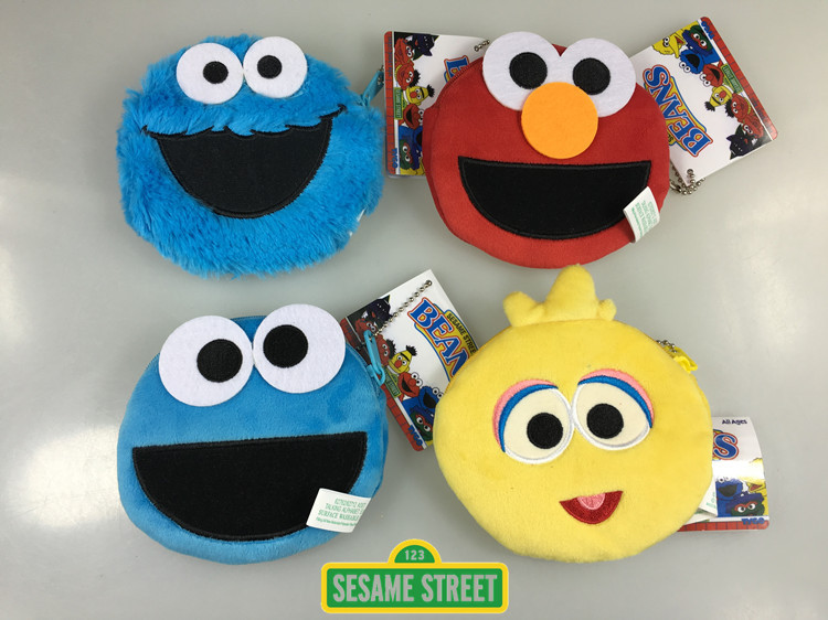 Us 3 33 7 Off Sesame Street Elmo Big Bird Cookie Monster Ernie Coin Purse Unisex Wallet Multi Functional Kawaii Bag Anime Plush Toys In Movies Tv