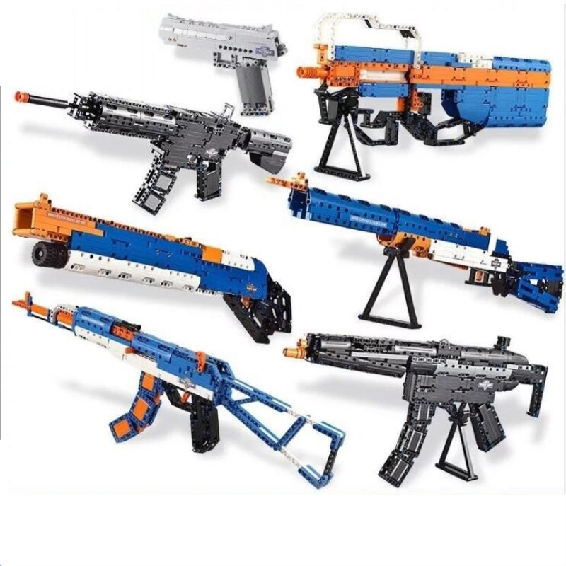 SWAT pistolet armes armes modèle enfant jouet briques modèle kits de construction blocs ensembles arme Compatible militaire AK47 M4A1
