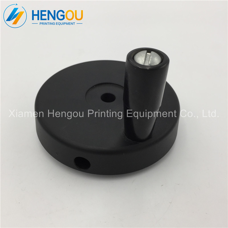 3 Pieces Free Shipping round shaped black color Heidelberg offset printing part SM52 machine spare parts 1 piece free shipping offset printing machine heidelberg spare parts stk1 board 91 144 8011 stk card 00 781 2197