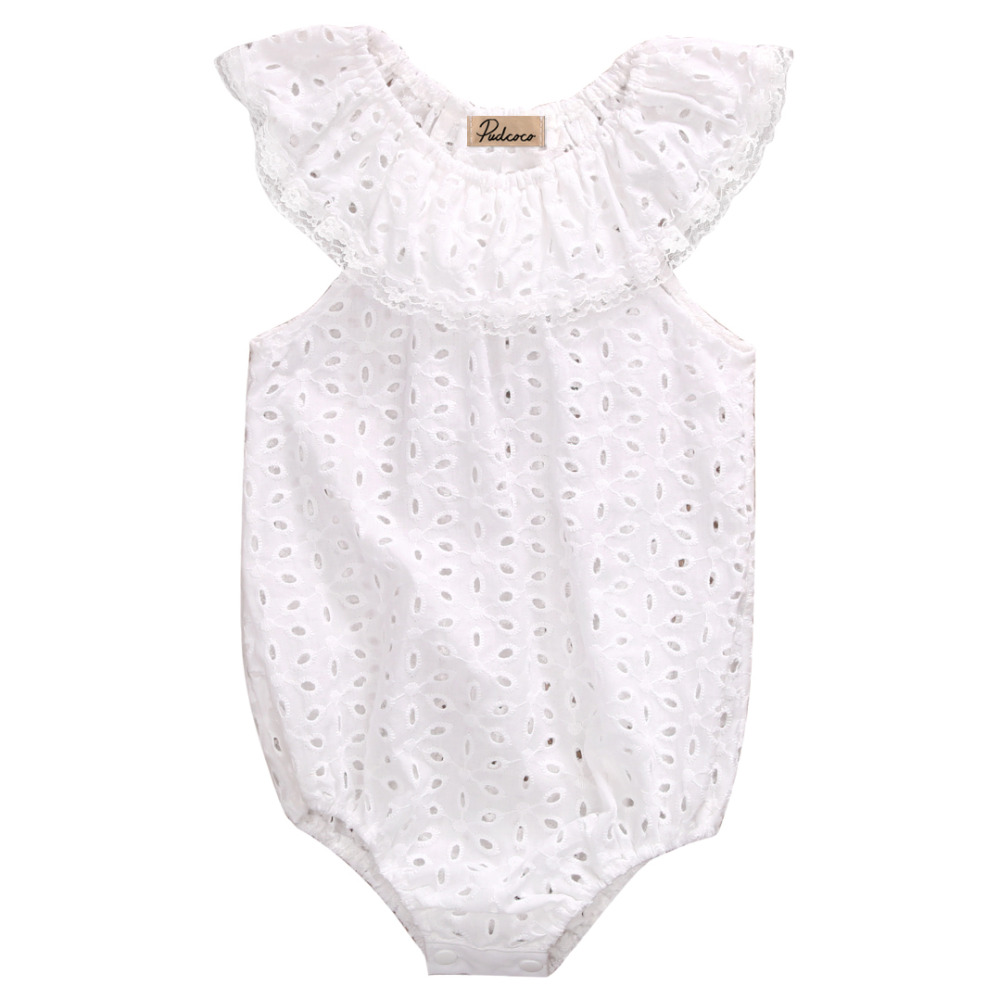 3 24 Bulan Bayi Baju Perempuan Monyet Bodysuits Oblong Iol Source Pudcoco 2017 Putih Renda Rompers