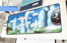 Марио геймерский коврик для мыши Professional 800x300x3 мм игровой коврик для мыши Инди-поп ноутбук аксессуары ноутбук padmouse эргономичный коврик