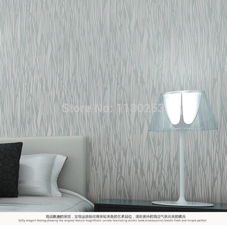 Décoration argent gaufré rayé papier peint rouleau Non tissé papier peint décor pour salon papel de parede 3d 53*1000 cm