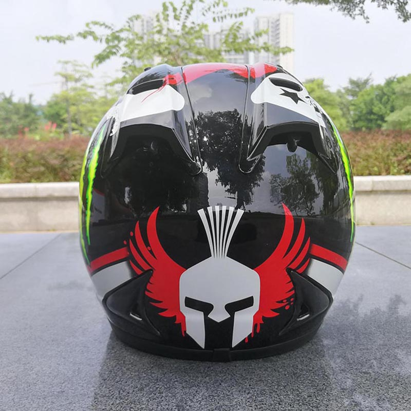 Full Face Vintage Motorcycle Helmet With Corns helmets motorcycle racing warm moto helmet Capacete Casco Casque Moto motorcycle helmet 2 bags saddle bag knight rider equipment oxford contraction helmet bag fit full face helmet back pad bag