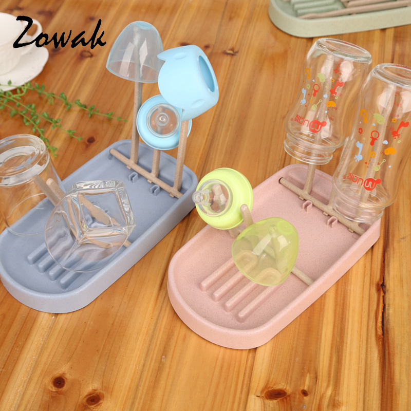 Foldable Bottle Rack Baby Infant Nipple Kitchen Drying Storage Drainer Portable Stand Hygienic Travel Feeding Bottle Cup Rack