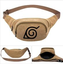 NARUTO Hokage Mens Canvas Waist Pack Pouch Camping Hiking Outdoor Bag Belt Bags Running Bike Sport Purse Wallet Anime Collection стоимость