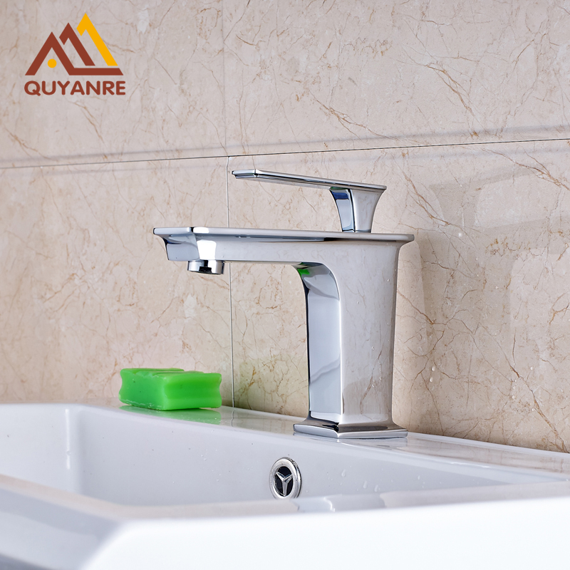 Wholesale and Retail Single Handle Single Hole Basin Faucet Deck Mounted Mixer Taps Bright Chrome us free shipping wholesale and retail chrome finish bathrom sink basin faucet mixer tap dusl handle three holes wall mounted