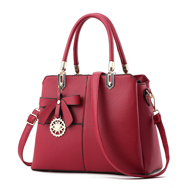 MONNET CAUTHY New Female Totes Elegant Lady Occident Style Fashion Handbags Color Wine Red Pink Black Grey Women Crossbody Bags