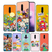 Rugrats Cartoon Soft Black Silicone Case Cover for OnePlus 6 6T 7 Pro 5G Ultra-thin TPU Phone Back Protective