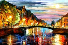 palette knife oil painting  modern oil painting canvas oil painting K555