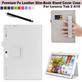 Para Lenovo Tab 2 A10-30 X30F 10.1 ''Tablet Couro Fique Folio folding Case Capa (Elastic Alça de Mão, Multi-Ângulo, Titular do cartão)