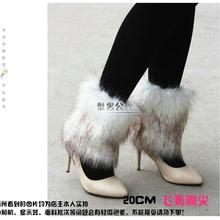 Стиль ботинок манжеты Пушистые мягкие пушистые искусственные меховые ножки гетры ботинок обувь покрытие 101901