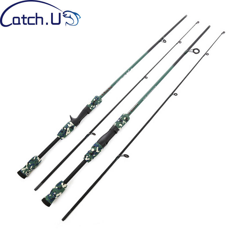 1,8 M 1/8-3/4 oz prueba M prueba fibra de carbono señuelo camuflaje fundición Spinning Fishing Rod