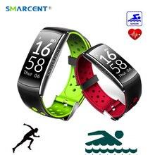 Smarcent Q8 умный Браслет монитор сердечного ритма фитнес-трекер Smart Band 2 часы IP68 waterptoof вызова сообщение напоминание браслет