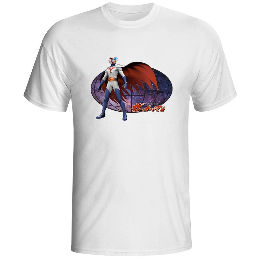 Kagaku Ninja-Tai Gatchaman T Shirt Japanese Anime Cartoon Rock Brand Casual T-shirt Cool Fashion Funny Pop Print Unisex Tee
