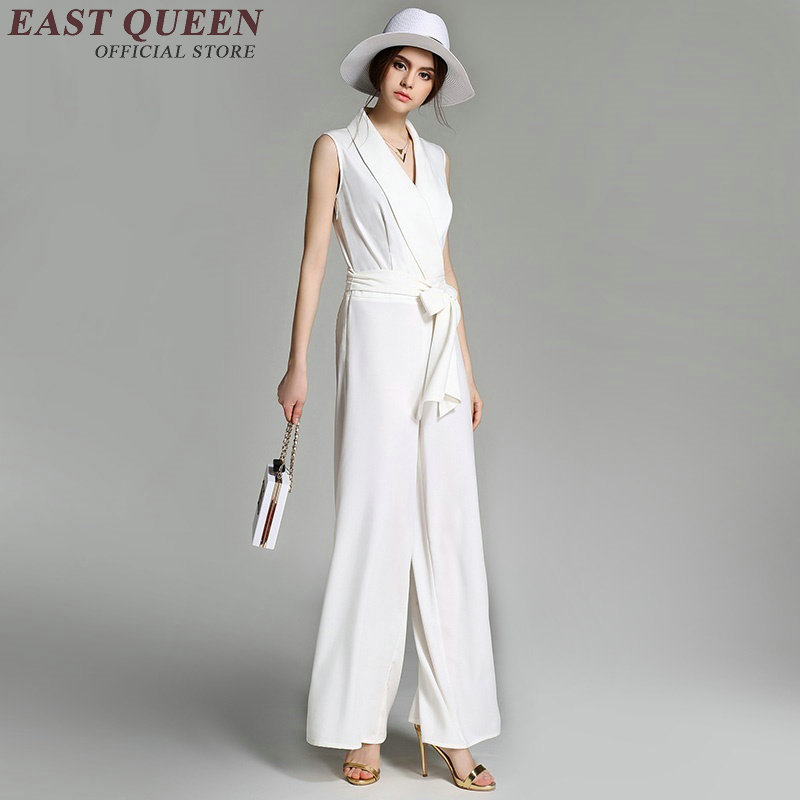 Femmes Aa2115 Noir Ou Salopette Couleur De Décontractée Mousseline D'affaires X Élégantes Soie Vêtements blanc Blanc Noir rrcpT6W