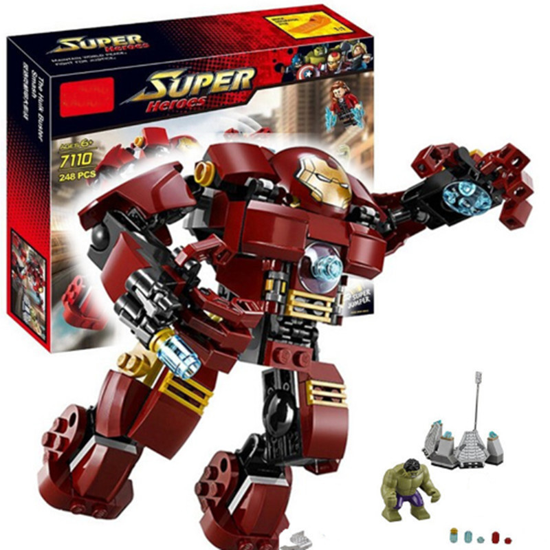 Compatible legoing HulkBuster legoing Marvel Decool 7110 Super Heroes 76031 Avengers Building Blocks Ultron Iron Man Bricks toys фигурка героя мультфильма toys daddy 7 3 hulkbuster ultron ironman brinquedos 2015 7 iron man 3 hulk hulkbuster marvel avengers age of ultron
