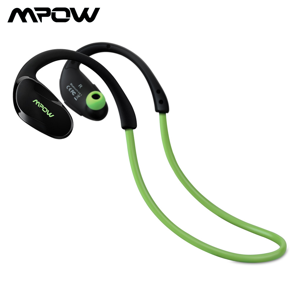Mpow MBH6 محدّثة Cheetah 4.1 Bluetooth Headset Headphones Wireless Headphone Mic AptX Sport Earphone ل iPhone Android Phone