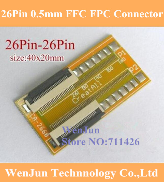 50pins to 50pins 0.5mm FFC FPC Extension Adapter Board 20mm Flat flexible Cable