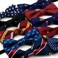 1 pc/lot Nuevo Niños Niñas Escuela de Moda corbata de lazo Para Niños Pajarita Corbata Mariposa Ajustable pajaritas Marca Gravata Patrón Bowknot
