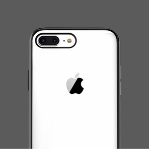 Image 2 - Original Xiaomi Phone Case For iPhone X XR XS Max 8 7 Plus Transparent TPU PC Shell Bag Shockproof Colorful Frame Back Cover