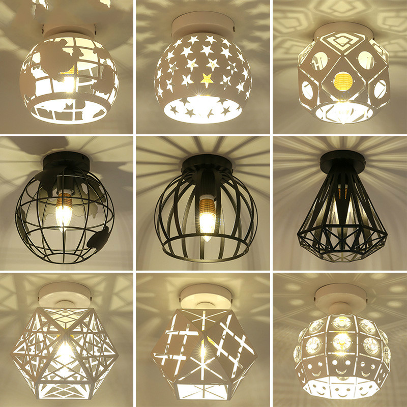 Modern Ceiling Lights Vintage Plafondlamp LED Ceiling Lamp Cage Plafonnier Earth Luminaire For Dining Room Kitchen Lampara Techo