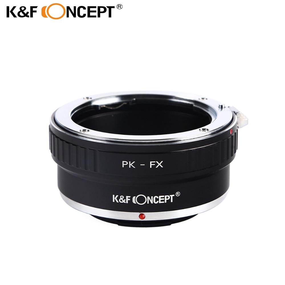 """K&F CONCEPT PK-FX adapterio žiedas, skirtas """"Pentax PK"""" lęšiui """"Fujifilm X"""" Fuji X-Pro1 X-E1 X-M1 kameros korpusui"""
