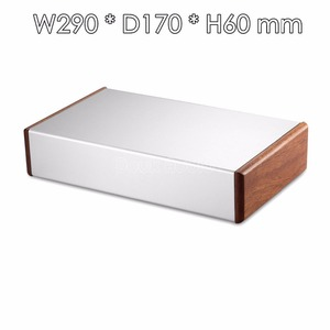 Image 2 - Aluminum Chassis Amplifier Case Wooden Side Panel Box Mini Enclosure DIY House