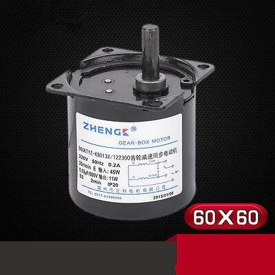 CHACNS Miniatura de Baja Velocidad 68KTYZ 220V AC 2.5r//min Eje exc/éntrico Soporte de Motor de Barbacoa el/éctrica Base Fija