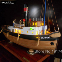 Wooden Ship Models Kits Educational Toy Model Wood Boats 3d Laser Cut Scale 1/50 Model Ship Assembly Sanson 2013 Static Version