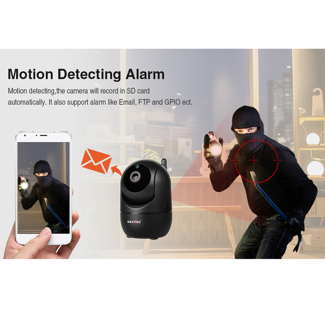 SECTEC 1080P Cloud Wireless IP Camera Intelligent Auto Tracking Of Human Home Security Surveillance CCTV Network Wifi Cam