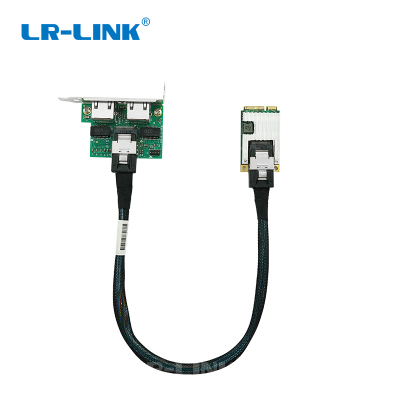 Image 3 - LR LINK 2202PT Mini PCI Express Gigabit Ethernet Network Card 10/100/1000Mbps Dual Port RJ45 Lan Adapter Intel I350-in Network Cards from Computer & Office