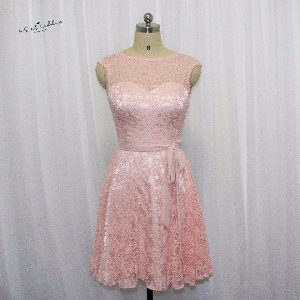 us 69.75 25 off|rosa erröten brautjungfer kleid spitze flügelärmeln  knielangen hochzeitsgast kleider kurzes kleid für hochzeit vestido