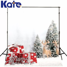 christmas background Gift Christmas tree snow 5x7ft(1.5×2.2m) background ZJ