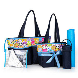 5 Pcs set Baby Things Diaper Bag Wet Bag Large capacity Baby Backpack Maternity Nappy Children's Bags For Girls travel Nursing