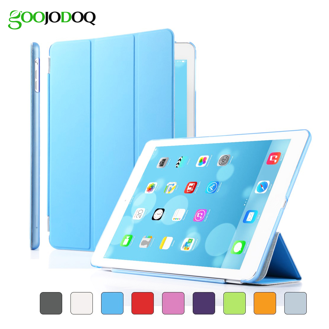 For iPad Air 2 Air 1 Case,Magnetic PU Leather Slim Smart Cover Seperated PC Shell with Auto Sleep/Wake for iPad Mini 1 2 3 Coque pu leather ebook case for kindle paperwhite paper white 1 2 3 2015 ultra slim hard shell flip cover crazy horse lines wake sleep