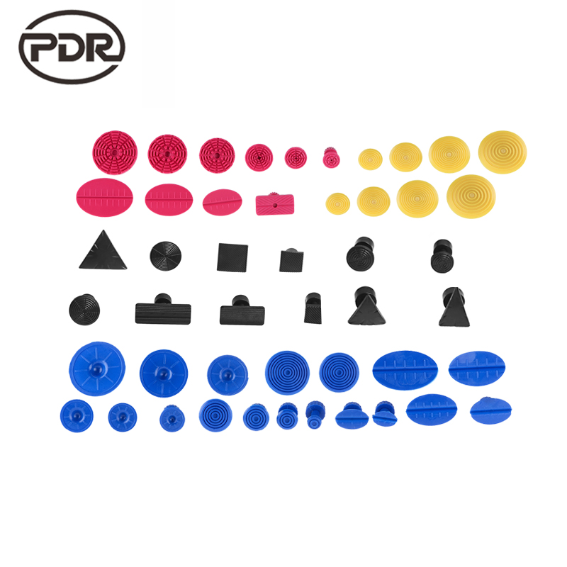 PDR Tools Suction Cup Suckers Glue Tabs Black Fungi Paintless Dent Repair Tools Hand Tool Set PDR Kit Ferramentas 12 pcs  pdr tools for car kit dent lifter glue tabs suction cup hot melt glue sticks paintless dent repair tools hand tools set