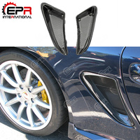 For Porsche(2006 2012)Caymans 987 Boxster S EP Style Carbon Fiber Side Vents Type 2 With Bigger Cold Air Duct Car Kit Part