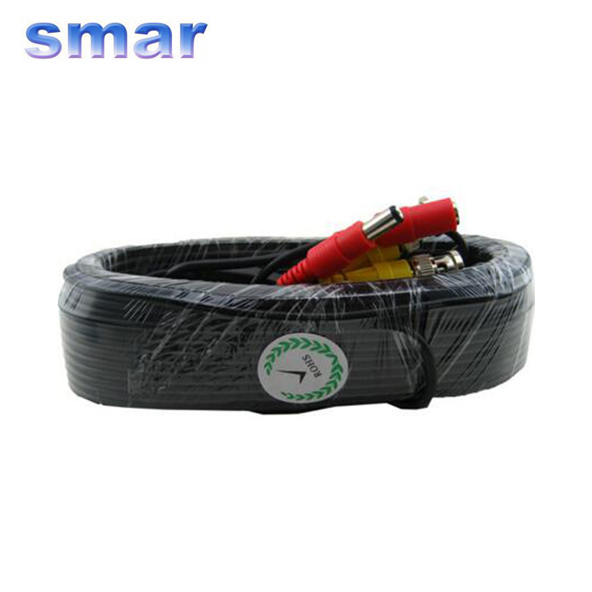 Smar 20m BNC Video DC Power CCTV Cable For Security Camera Cable Surveillance Accessories