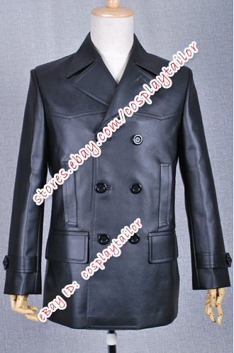 Doctor Cosplay Who The 9th Doctor Black Leather Coat Costume Well Made Cool New