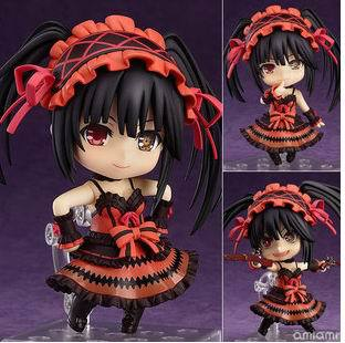 Anime DATE A LIVE Tokisaki Kurumi Lying upper Sexy girl PVC Action Figure Collection Model Toys Doll 10cm Free Shipping japan anime date a live wallet tokisaki kurumi cosplay wallets coin card women men bifold purse