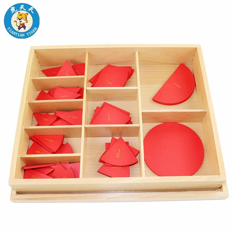Montessori mathématiques apprentissage petite enfance jouets éducatifs en bois découpé étiqueté cercles de Fraction (1-10)