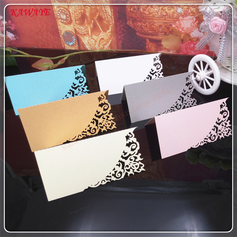 50 Pcs Guests Name Place Invitation Table Card Wedding Favor Decoration Laser Cutting Party Seating Card Table Cards 6ZZ13