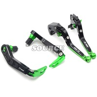 Motorcycle CNC Pivot Adjustable Brake Clutch Levers & Brake Clutch Levers Protect Guard For KAWASAKI Z1000 2007 2016 all years
