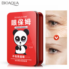 BIOAQUA Firming Lifting Mask Eye 10pcs Removal Gold Dark Circle Anti Aging Whitening Moisturizing Nourishing Sheet